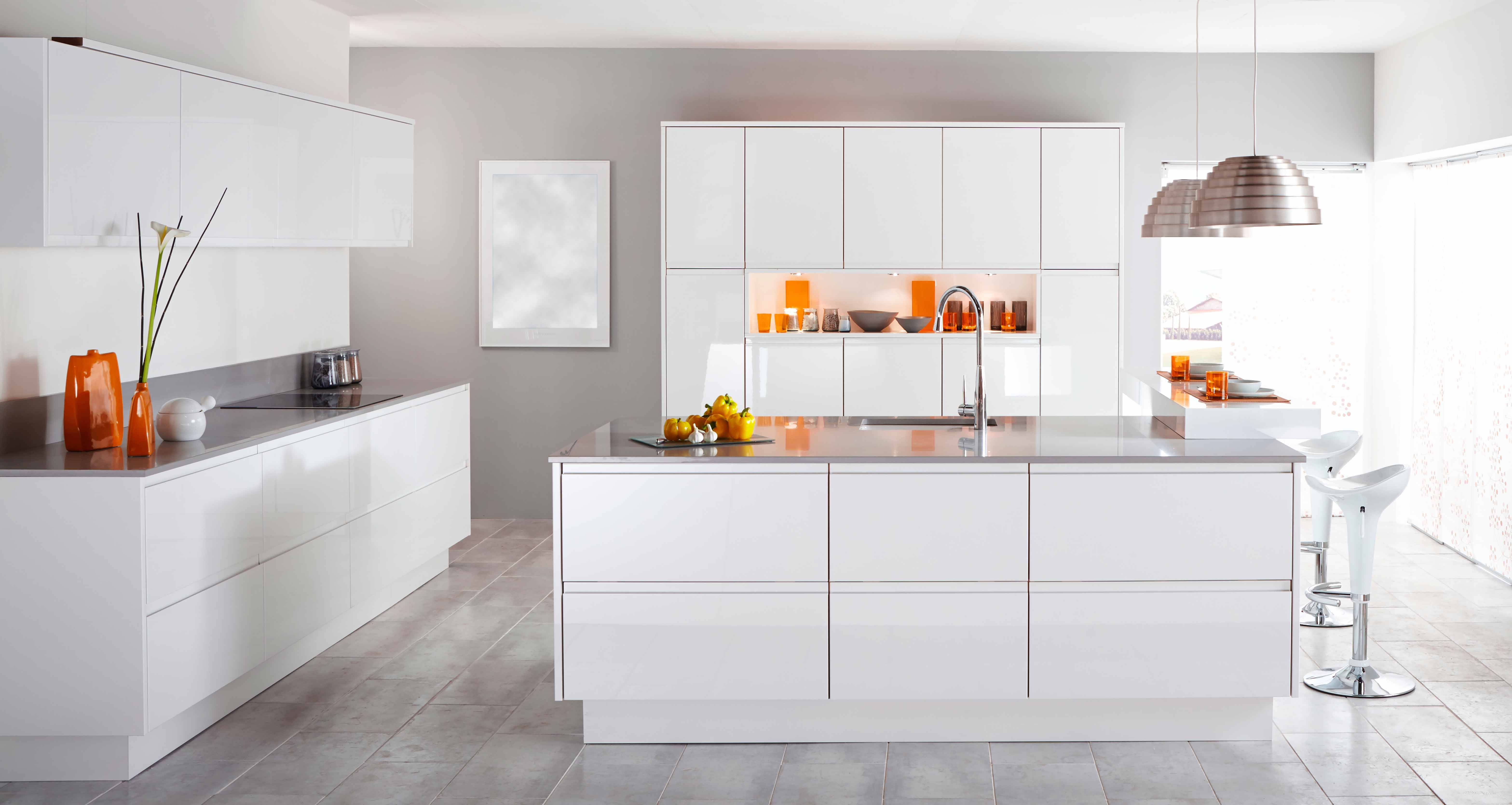Kitchen Cabinets in our Showroom