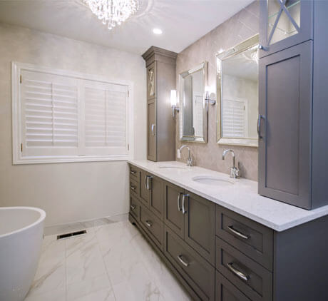 tone on tone bathroom remodeling - Renovated Bathrooms Pictures